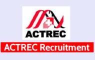 ACTREC Recruitment 2021