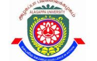 Alagappa University Recruitment 2020
