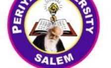 Periyar University Recruitment 2020