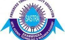 SASTRA University Recruitment 2020